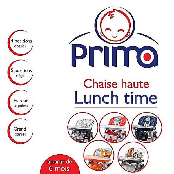 Annonce sur Affariat Tunisie pour: Chaise Haute PRIMA Lunch Time