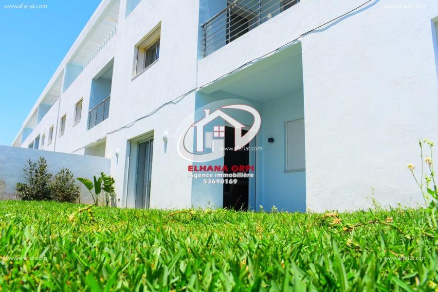 Annonce sur Affariat Tunisie pour: app s+3 à vendre avec jardin très haut standing