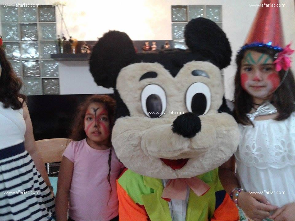 ANIMATION ENFANTS MICKEY CLOWN HAMMAMET TUNIS