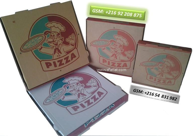 BOITE PIZZA ET AUTRE EN CARTON ONDULE OU COMPACT