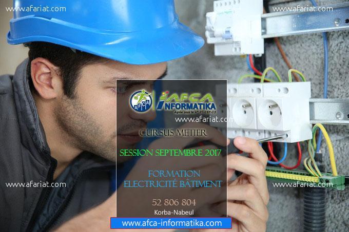 Formation professionnelle en électricité